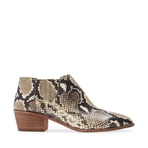 Madewell Sonia Snakeskin Chelsea Boot Leather 8.5